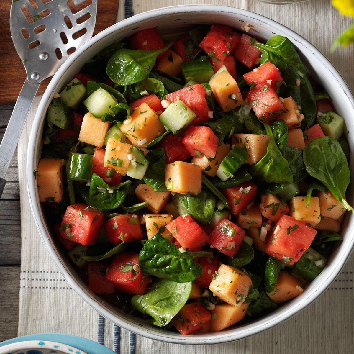Watermelon and Spinach Salad