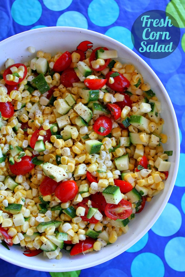 Fresh Corn, Zucchini and Tomato Salad