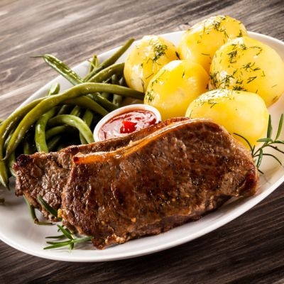 Juicy Crockpot Sirloin With Rosemary Potatoes And Green Beans