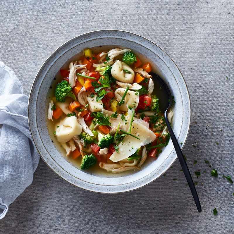Chicken, Broccoli & Tortellini Soup