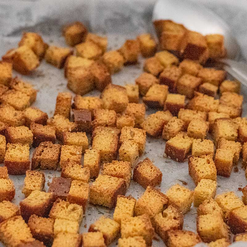 Keto Croutons - Crunchy & Gluten Free Salad Topper