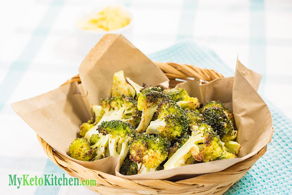 Crispy Broccoli Crunchy & Cheesy Recipe - EASY in The Oven - 100% Keto