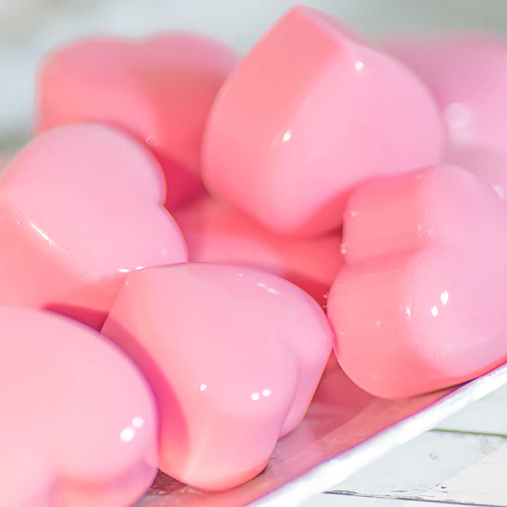 Raspberry Fat Bombs - Cream Heart Jellies
