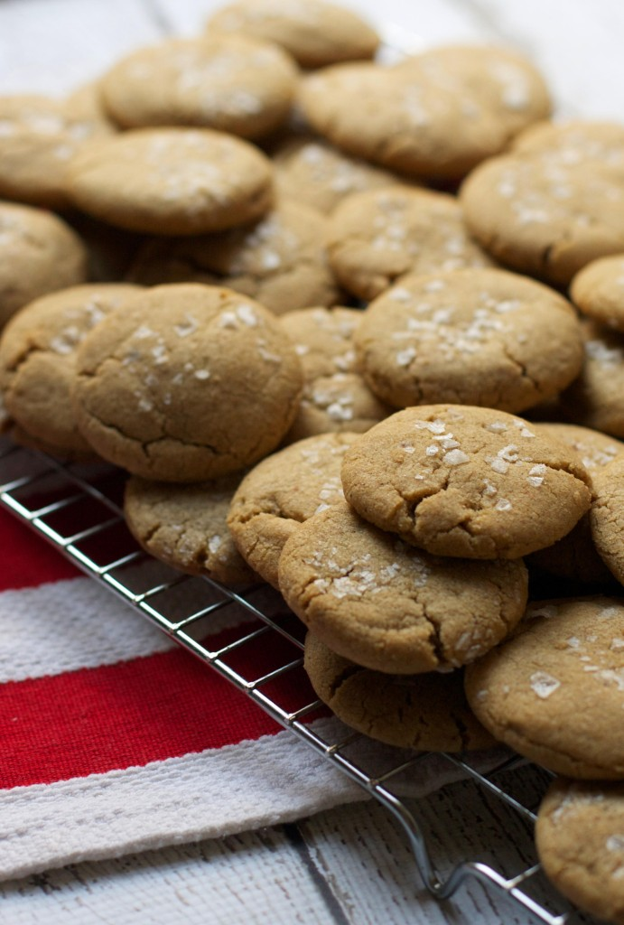 Malted Salted Brown Butter Cookies