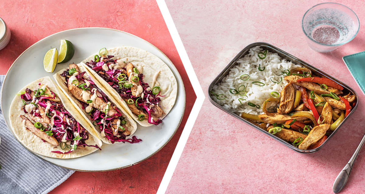 Korean Chicken Tacos for Dinner with a Chicken Stir-Fry for Lunch