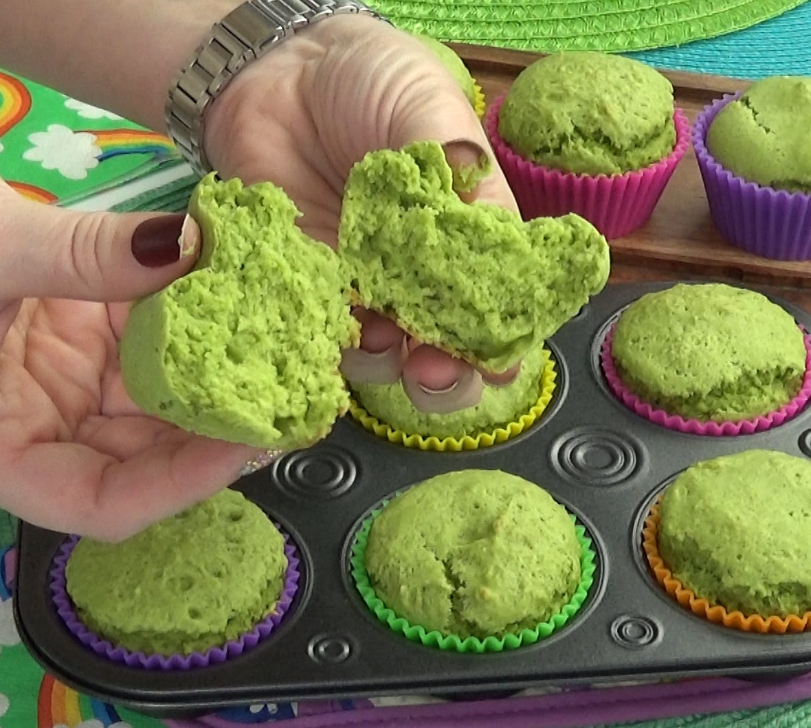 Green Monster Spinach Muffins