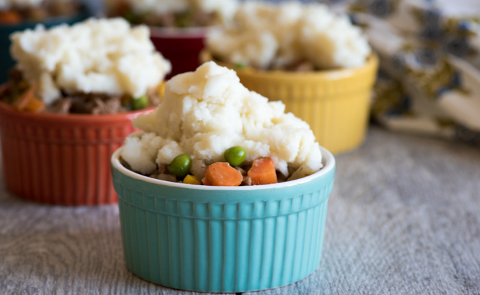 Shepherd's Pie – topped with instant mashed potatoes