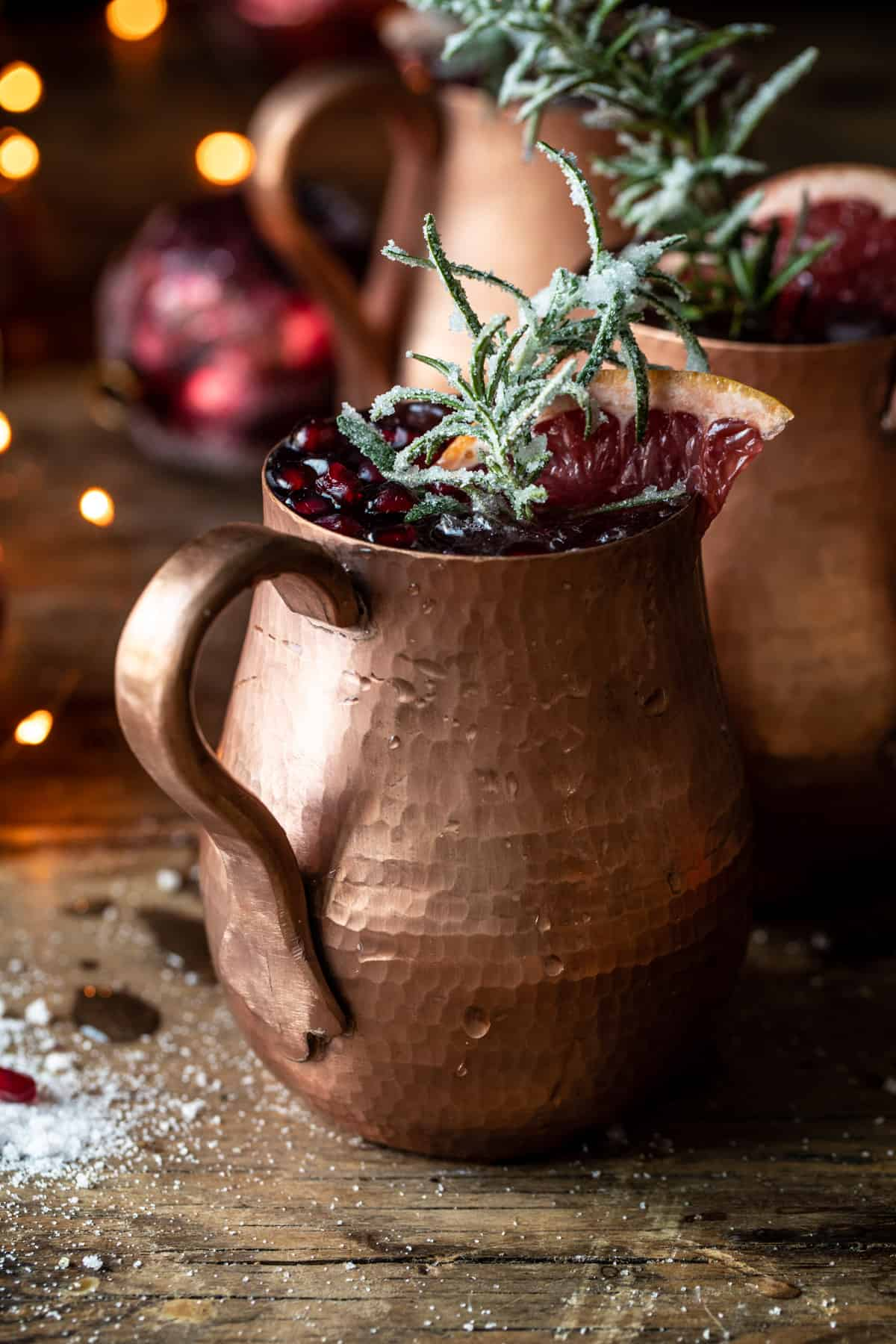 Pomegranate Champagne Mule Punch