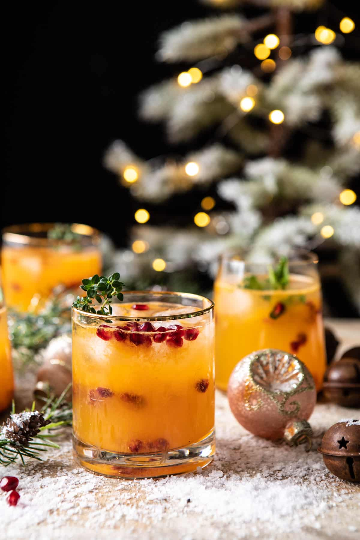 Holly Jolly Christmas Citrus Cocktail Pitcher