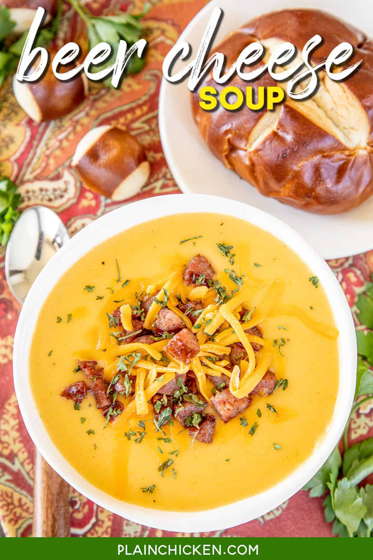Beer Cheese Soup with Smoked Sausage