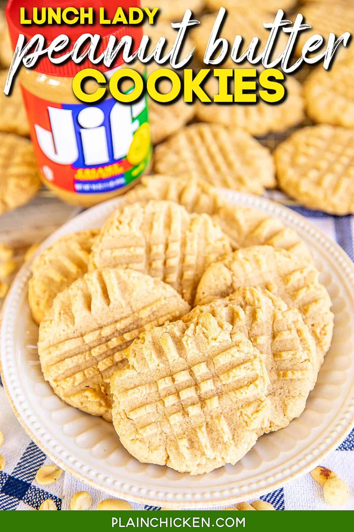 Lunch Lady Peanut Butter Cookies
