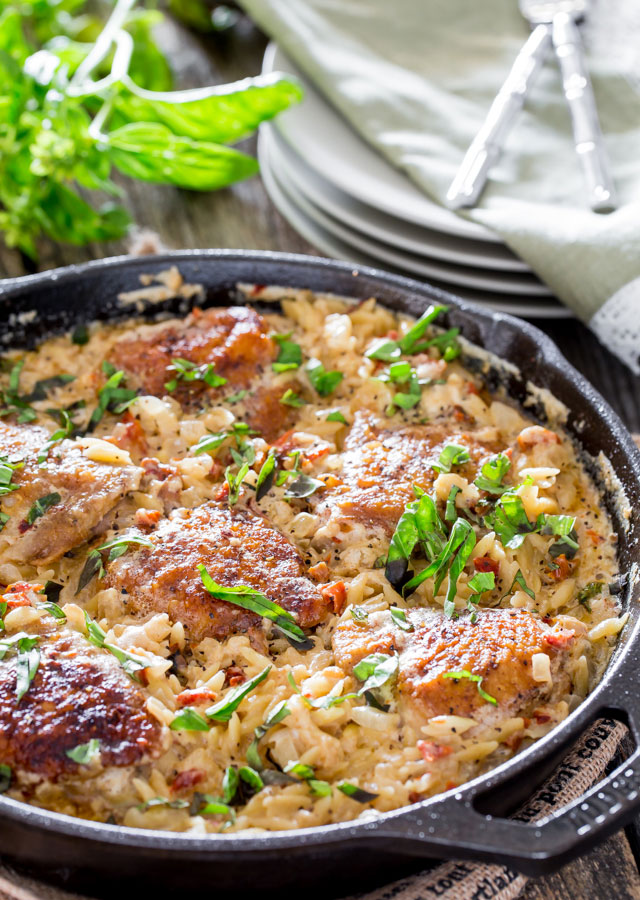 One Pot Chicken and Orzo