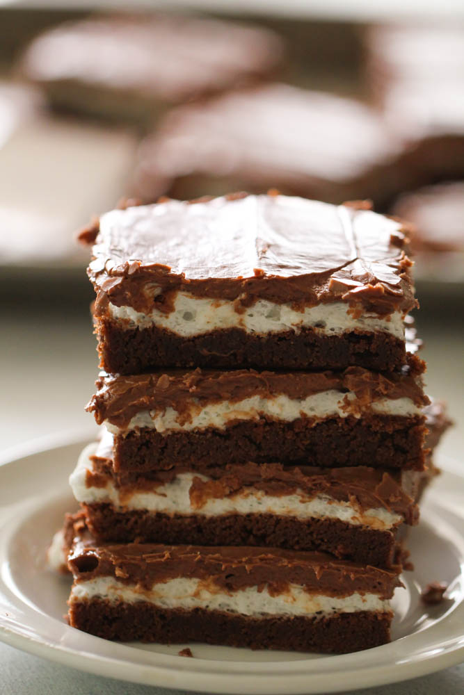 Chocolate Frosted Marshmallow Brownies