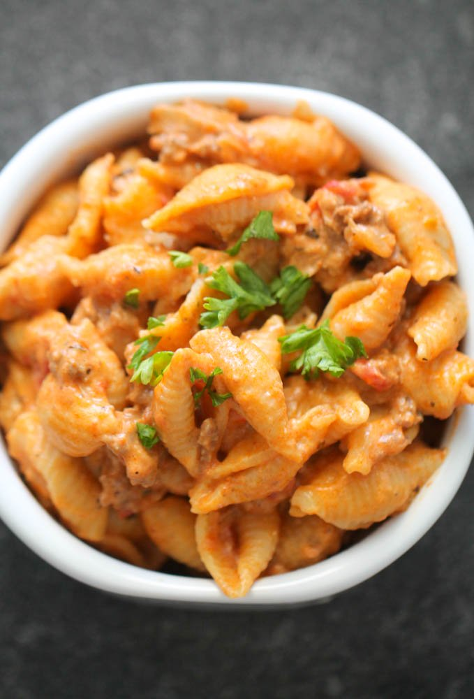 Instant Pot Creamy Shells and Beef
