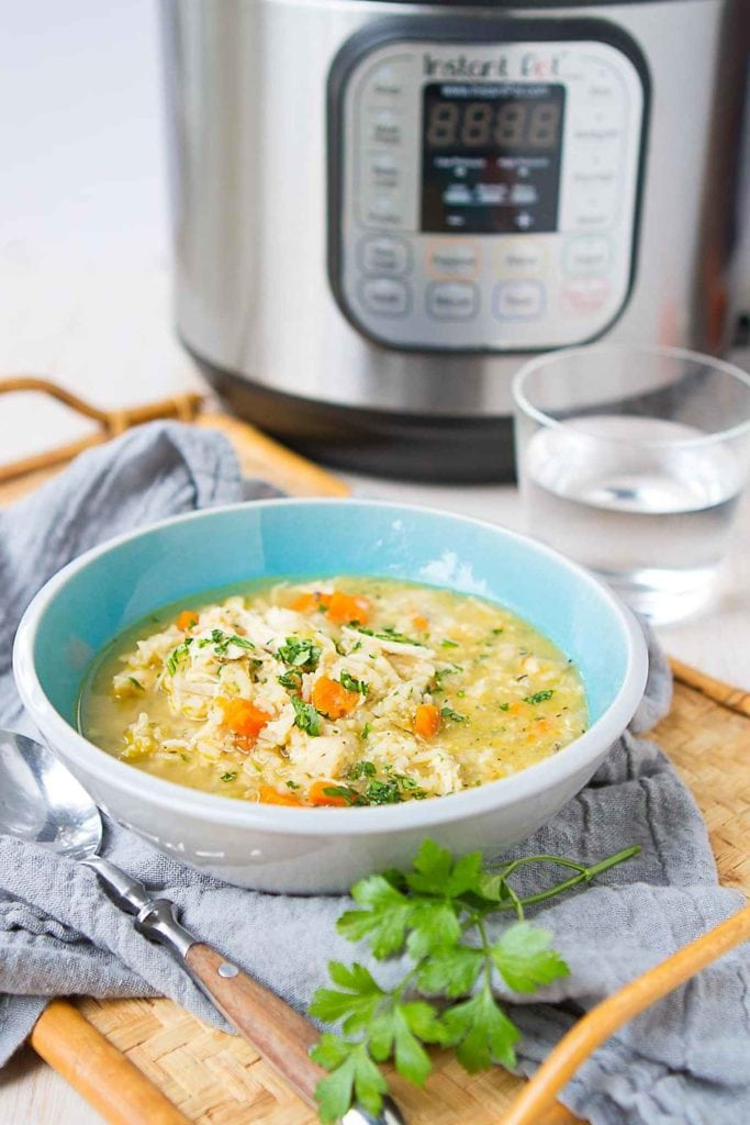 Instant Pot Chicken and Rice Soup