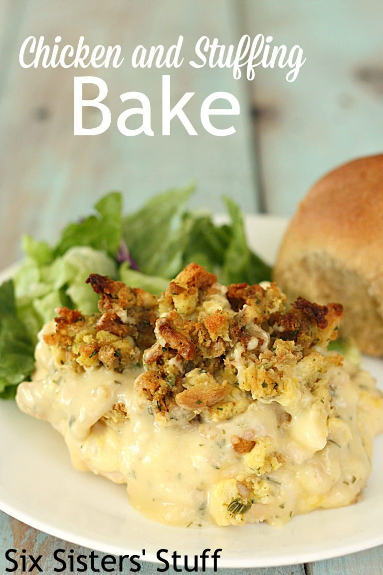 Savory Chicken Stuffing Bake