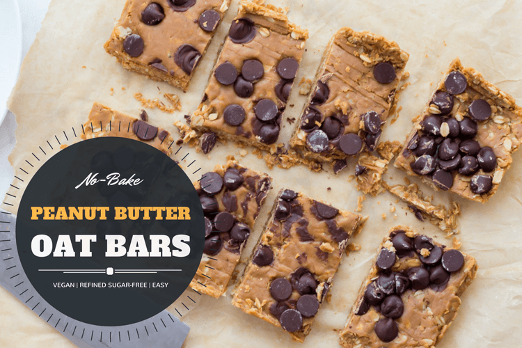 Easy Vegan Peanut Butter Oat Bars (No-Bake)
