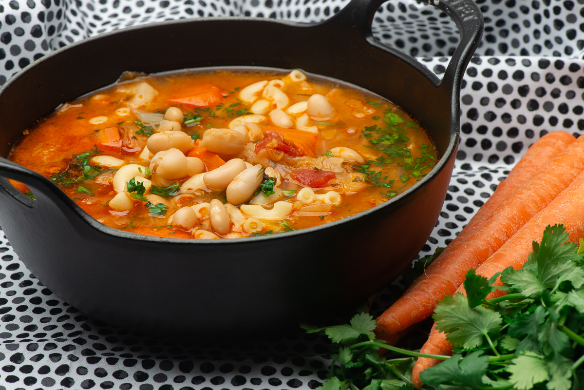Cabbage and White Bean Minestrone
