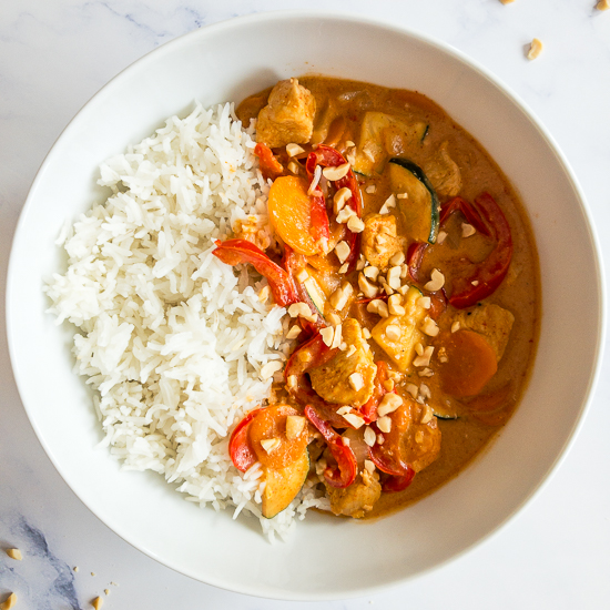 Thai Peanut Curry with Chicken