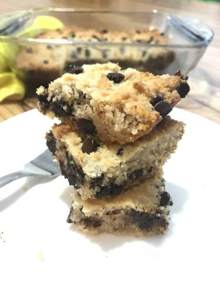 Chocolate Chip Cookie Bars (THM-S, Low Carb, Sugar-Free)